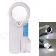 TH-7011 12 X lupa con luces LED - blanco + azul + transparente