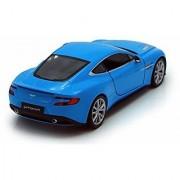 Welly Aston Martin Vanquish 1/24 Scale Diecast Model Car Blue