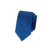 Úzká kravata SLIM Modrá s barevným puntíkem Avantgard 571-62056