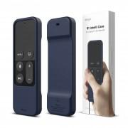 Elago R1 Intelli Case - удароустойчив силиконов калъф за Apple TV Siri Remote (индиго)