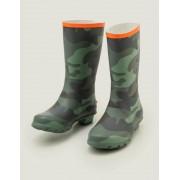 Mini Kräutergrün, Camouflage Gummistiefel Jungen Boden, 31, Green