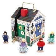 Детска дървена къщичка с ключове за ориентация, 12505 Melissa and Doug, 000772125055