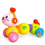 Kiditos Electric Toy Educational Musical Inchworm With Light Twist Press & Go Inchworm Developmental Baby Toys