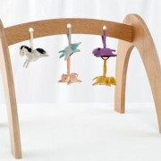 Wee Workout Wooden Baby Gym with Animal Rattles, Set of 5