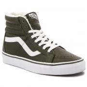 Sneakers VANS - Sk8-Hi Reissue VN0A2XSBUCH1 (Leather/Fleece) Olive Ni