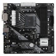 Дънна платка ASRock B450M PRO4-F, B450, AM4, DDR4, PCIe (HDMI&DVI&VGA)(CFX), 4x SATA3 6.0 Gb/s, 1x M.2 Socket, B450M_PRO4-F