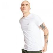 Timberland T-shirt Dunstan River À Poche Pour Homme En Blanc Blanc, Taille 3XL