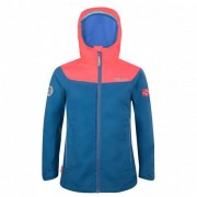 Trollkids - Girls Bergen Jacket - Veste imperméable taille 116, bleu/rouge