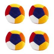 Amber Shine Soft Toy Ball/ Stuffed/ Rattle Balls/ Shake Shake Balls/ Footballs/ Soft Balls/ Plush Balls (Medium Size, Set of 4)