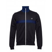 Fred Perry Chest Panel Tr. Jkt Sweat-shirt Tröja Blå Fred Perry