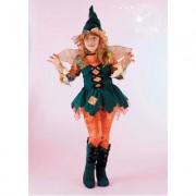 Costume strega del bosco fancy magic 5/6 anni