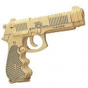 Celsy 3D Jigsaw Puzzles DIY Wooden Pistol Gun Model Toy Puzzle Kits