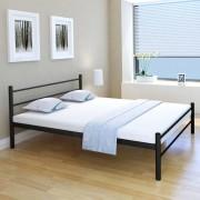 vidaXL Cadru de pat din metal 160 x 200 cm, negru
