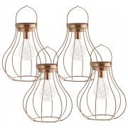 [en.casa]® Luz decorativa - Color cobre - lámpara de diseño con luz LED (21x18x23cm)