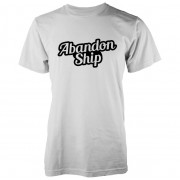 Abandon Ship Bubble Logo Heren T-shirt - Wit - L - Wit
