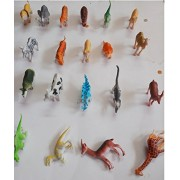 Siddhi Vinayak™ Relastic Zoo Wild Animal Set with Dinosaur Set for Kids Learning and Educational Pack of 20 Piece Approx 9cm.