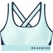 Under Armour Mid Crossback Bra (Cup B) - reggiseno sportivo medio impatto - Light Blue