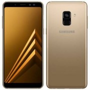 Samsung Begagnad Samsung Galaxy A8 (2018) 32GB Guld Olåst i bra skick Klass B