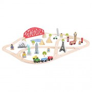 Bigjigs Rail BJT025 Around the World Train Set