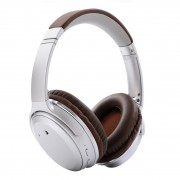 Over-ear Noise Cancelling Bluetooth Headphone Foldable Wireless Stereo Headset with Mic - Silver