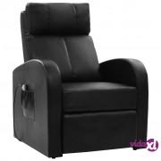 vidaXL Električna Fotelja za Masažu s Daljinskim Upravljačem Crna