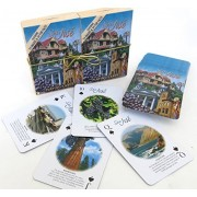 San Jose, Souvenir Playing Cards, Vacation Gift. Card Faces Feature Multiple Landmarks, Oustsanding Tourist Gift. The Two Deck Set Includes A Gold Gift Ribbon