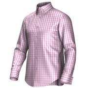 Maatoverhemd roze/wit 53194