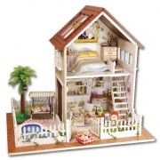 Imported and New Doll House Wooden Doll Houses Miniature DIY dollhouse Furniture Kit