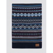 Ben Sherman Script Fairisle Knitted Scarf 0 Navy