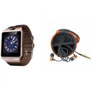 Mirza DZ09 Smart Watch and Katori Earphone for LG OPTIMUS G (DZ09 Smart Watch With 4G Sim Card Memory Card| Katori Earphone)