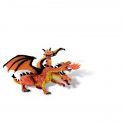 Dragon orange cu 3 capete Bullyland