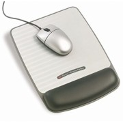 Mousepad argintiu cu gel 3M