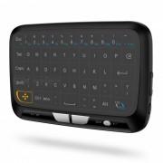 H18 2.4GHz mini teclado inalambrico de aire del raton w / Touchpad - Negro