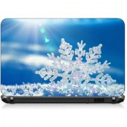 VI Collections WHITE LEAF IN GRADIENTS pvc Laptop Decal 15.6