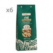 Rustichella d'Abruzzo 6 Confezioni Penne Rustiche primograno 100% abruzzese 500 gr