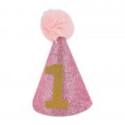 Xenos Hoedje baby nr 1 -roze