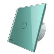 Intrerupator simplu wireless cu touch Livolo din sticla Verde