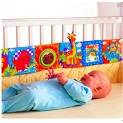 Urdhva Retail Colorful Baby Bumper Cloth Book Knowledge Bed Around Crib Bed Protector Multifunction Fun Toy Bedding Sets Crib Bumper