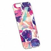Husa Silicon Transparent Slim Flori Tropicale Apple iPhone 7 Plus 8 Plus