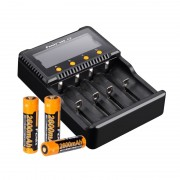 Fenix ARE-C2+ 18650 Charger 4 Bay with x3 Fenix 18650 ARB-LM2 2600mAh Li-ion Battery
