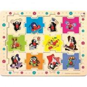 Puzzle Bino Toys Arici set din lemn 12 piese