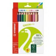 Stabilo Pastelli GREENtrio. Scatola 12 matite colorate