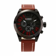 Ceas casual barbatesc Curren Quartz Chronometer cu afisaj data 8198-1, visiniu