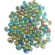 Nawani Collections 100 Pcs of Mini Size Glass Marbles with Shooter Unique Collection