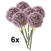 Bellatio flowers & plants 6x Lila sierui kunstbloemen 70 cm