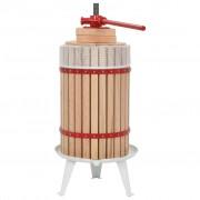Sonata Преса за плодове и вино с платнена торба, 24 л, дъбово дърво