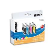 Brother Tintenpatronen-Set KMP, kompatibel für Brother LC-985BK/C/M/Y