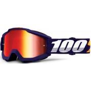 100% Accuri Extra Grib Óculos de motocross Branco Azul único tamanho