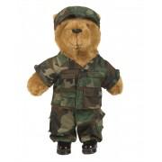 Obleček pro velkého plyšového medvídka - woodland