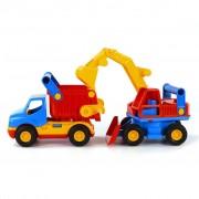 Polesie Wader Set Escavatore e Camion Ribaltabile 45x15x19 cm 1450570